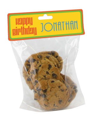 Hippie Birthday Bag Toppers with bag