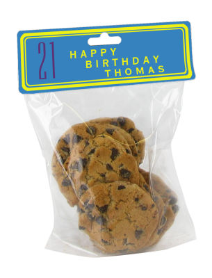Simple Age Birthday Bag Toppers with bag