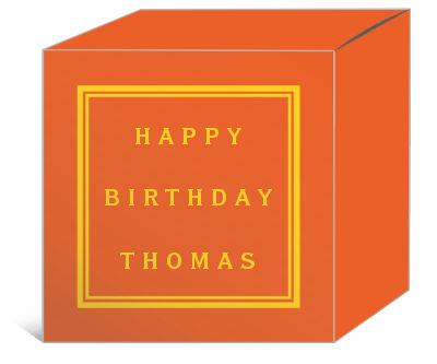 Simple Border Birthday Boxes