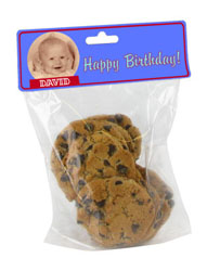 Birthday Favors Bag with Custom Topper - Bag Included