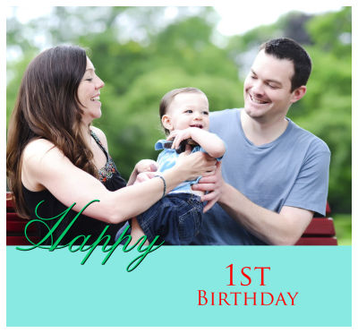 Birthday Photo Labels with Text