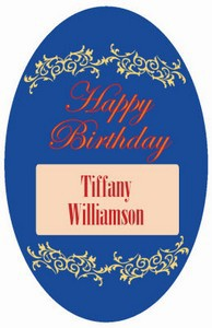 Border Birthday Labels