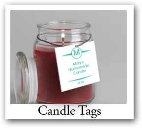candle tag, custome candle tags