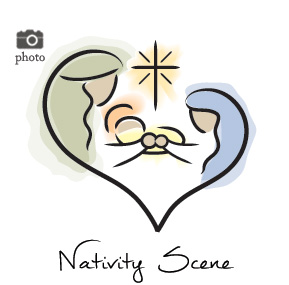 Christmas Nativity Family Cards
