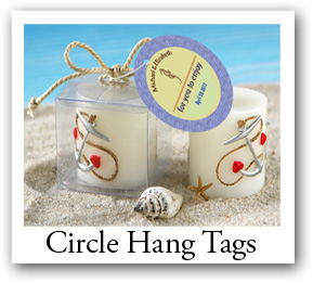 round photo favor tags, Personalized circle tags