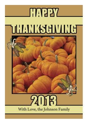 Corn Thanksgiving Labels