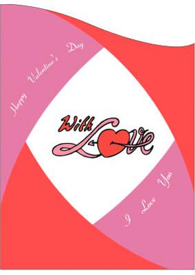 Corner Border Valentine Labels