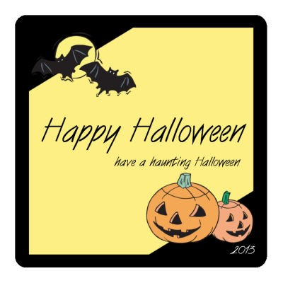 Corner Clipart Halloween Coasters