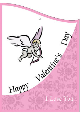 Corners Edge Valentine Hang Tag