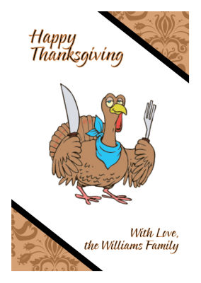 Diagonal Banner Thanksgiving Labels