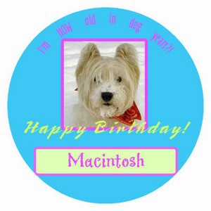 Dog Birthday Labels