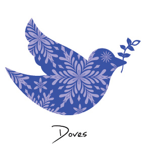 Christmas Dove Business Holiday Cards