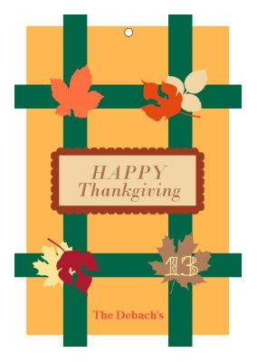 Fall Foliage Holiday Hang Tags