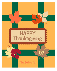 Fall Foliage Thanksgiving Label