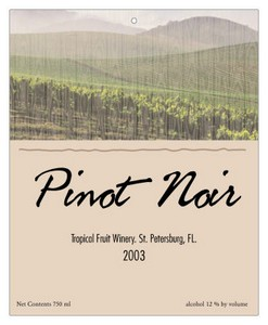 Florida Wine Favor Tag