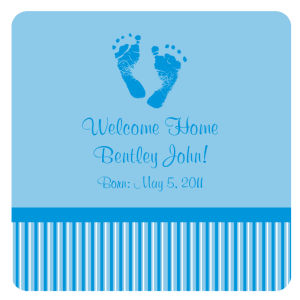 Footprints Baby Coasters