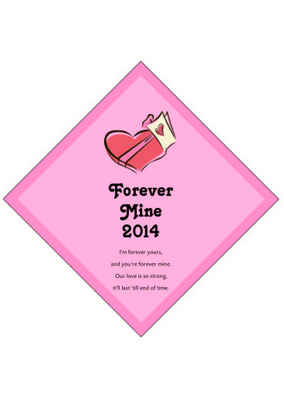 Forever Mine Valentine Day Labels