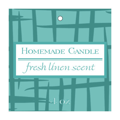 Fresh Linen Candle Hang Tag