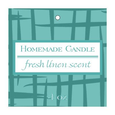 Fresh Linen Candle Hang Tag