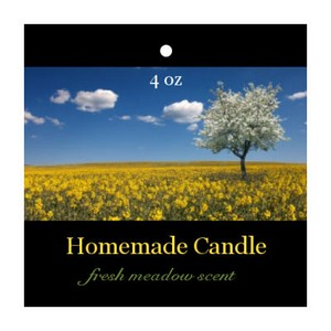 Fresh Meadow Candle Hang Tag