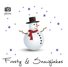 Christmas Frosty Snowman Family Cards