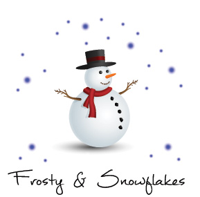 Christmas Frosty Snowman Holiday Business Cards