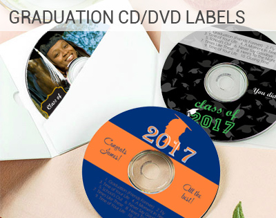 custom graduation CD labels and DVD Labels