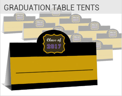 graduation Place cards, wedding favors, custom table tents
