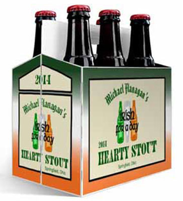 Green Ale Irish 6 Pack Beer Carrier