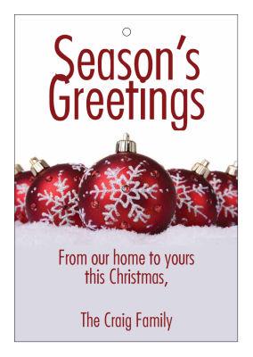 Group Ornaments Christmas Hang Tags