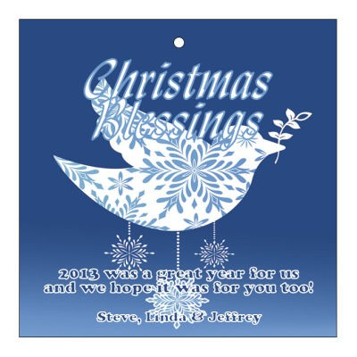 Hanging Dove Christmas Hang Tags