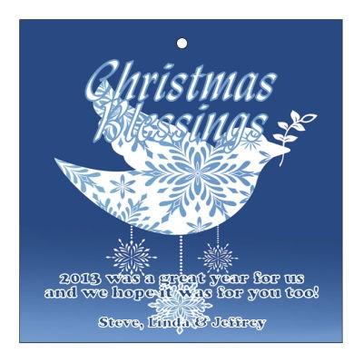 Hanging Dove Christmas Hang Tags