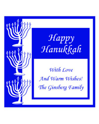 Hanukkah Casual Labels