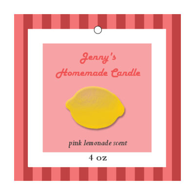Happy 70s Candle Hang Tag