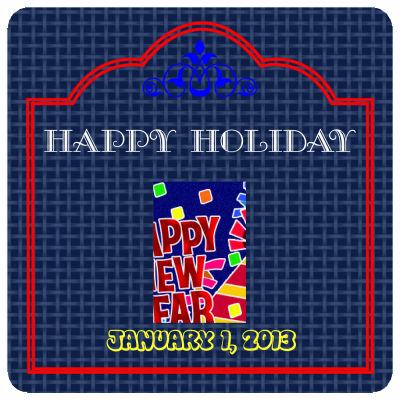 Happy Holidays New Year Coasters