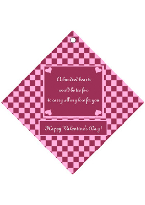 Happy Valentines Day Valentine Day Hang Tags
