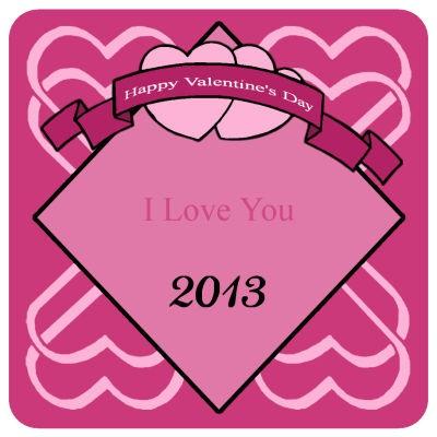 Heart Banner Valentine Coasters