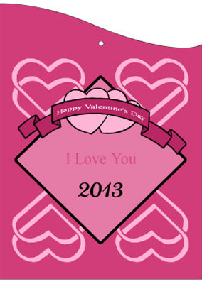 Heart Banner Valentine Hang Tag