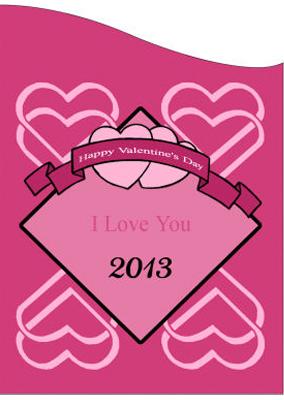 Heart Banner Valentine Labels