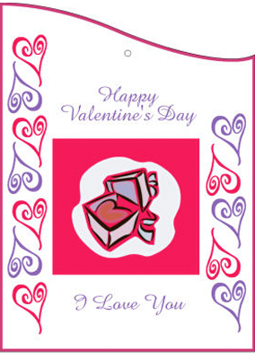 Hearts Clipart Valentine Hang Tag