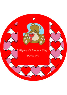 Hearts Galore Valentine Hang Tag