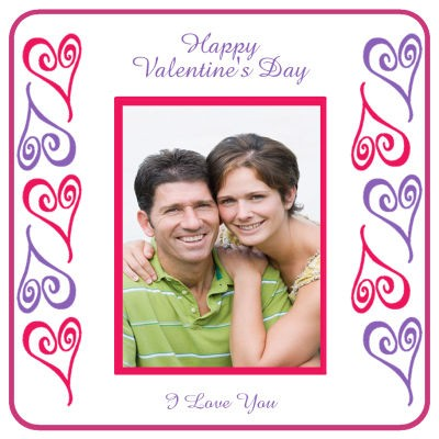 Hearts Photo Valentine Coasters