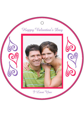 Hearts Photo Valentine Hang Tag