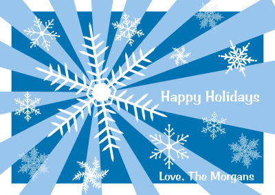 Snowflake Holiday Labels