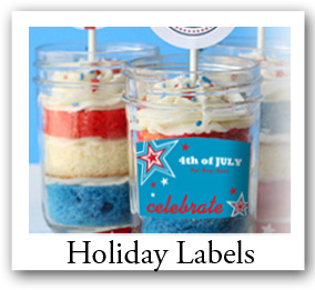 Custom Holiday labels