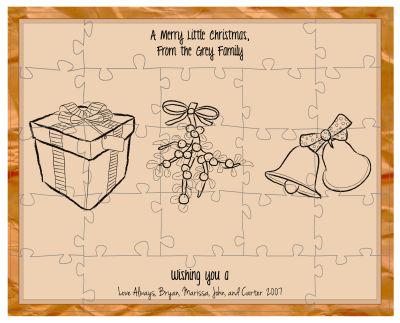 Homemade Christmas Puzzles