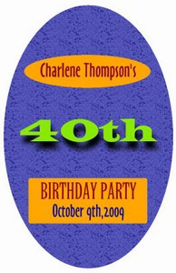 Party Time Birthday Labels