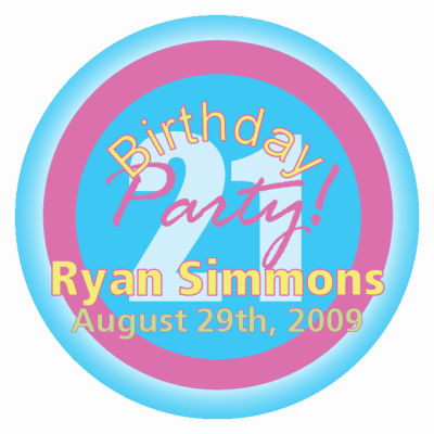 Party Birthday Labels