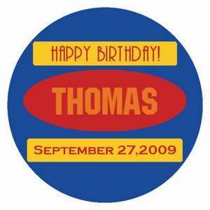 Sport Birthday Labels