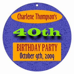 Party Time Birthday Hang Tags
